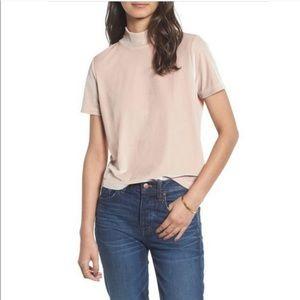 Madewell xs Velvet shirt pink